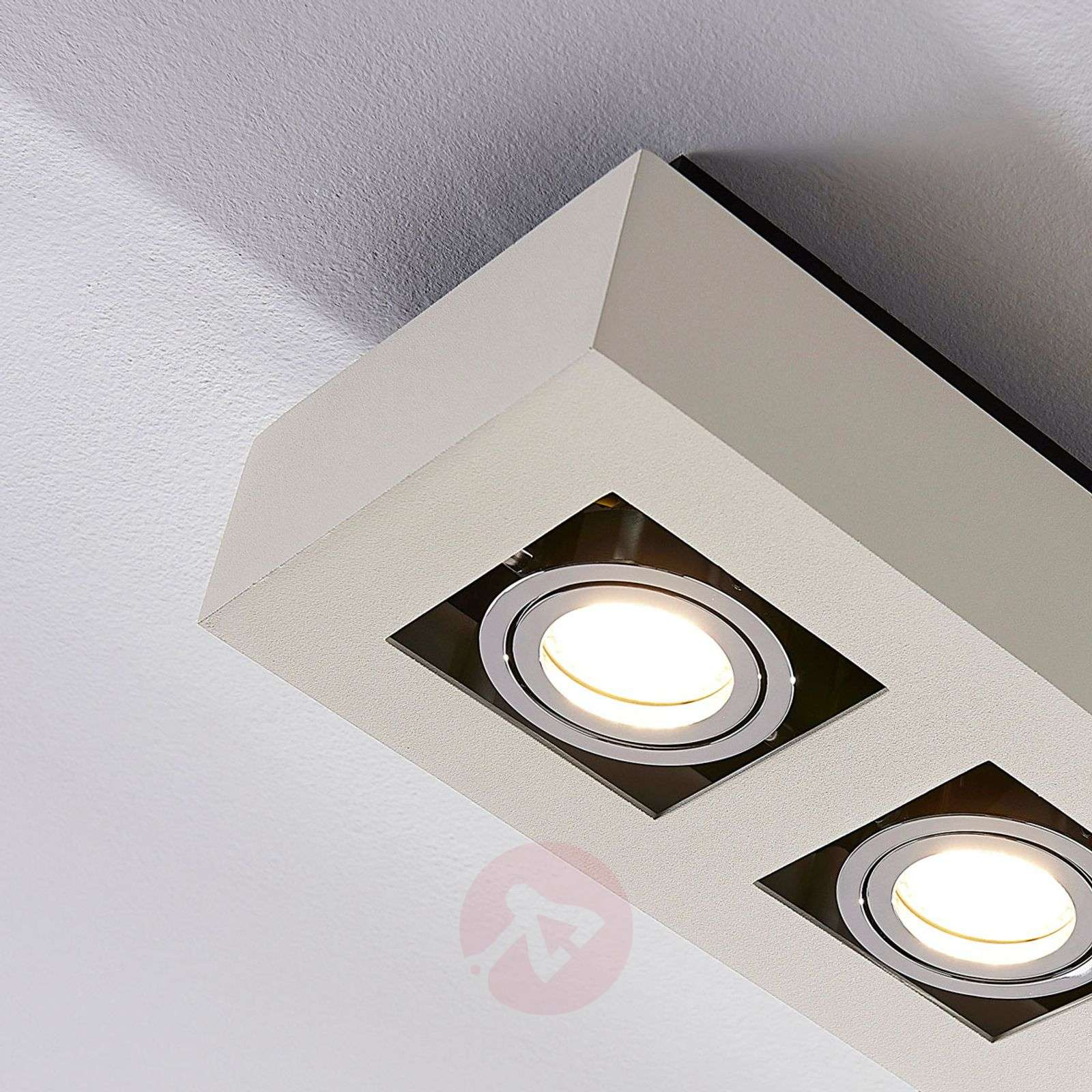 3-lamps LED-plafondlamp Vince in wit-9620458-01