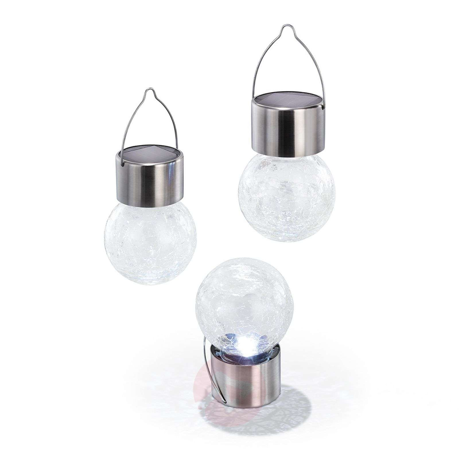 3 led zonne-energie lichtset Crackle Ball 6.000 K-3012536-01