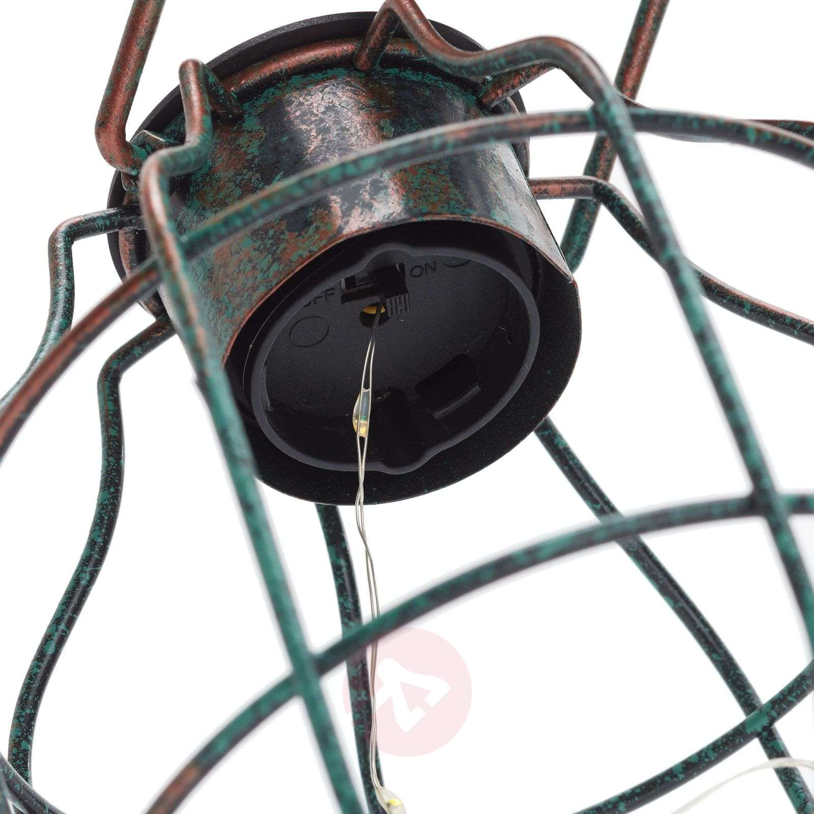 Decoratieve LED lamp Cage in vintage-look-4015028-01