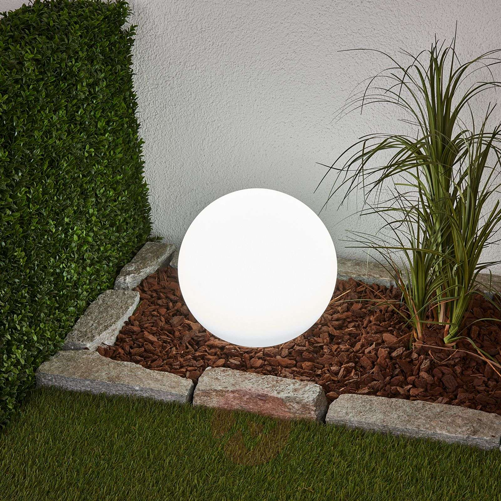 Decoratieve LED-solarlamp Lago in bolvorm