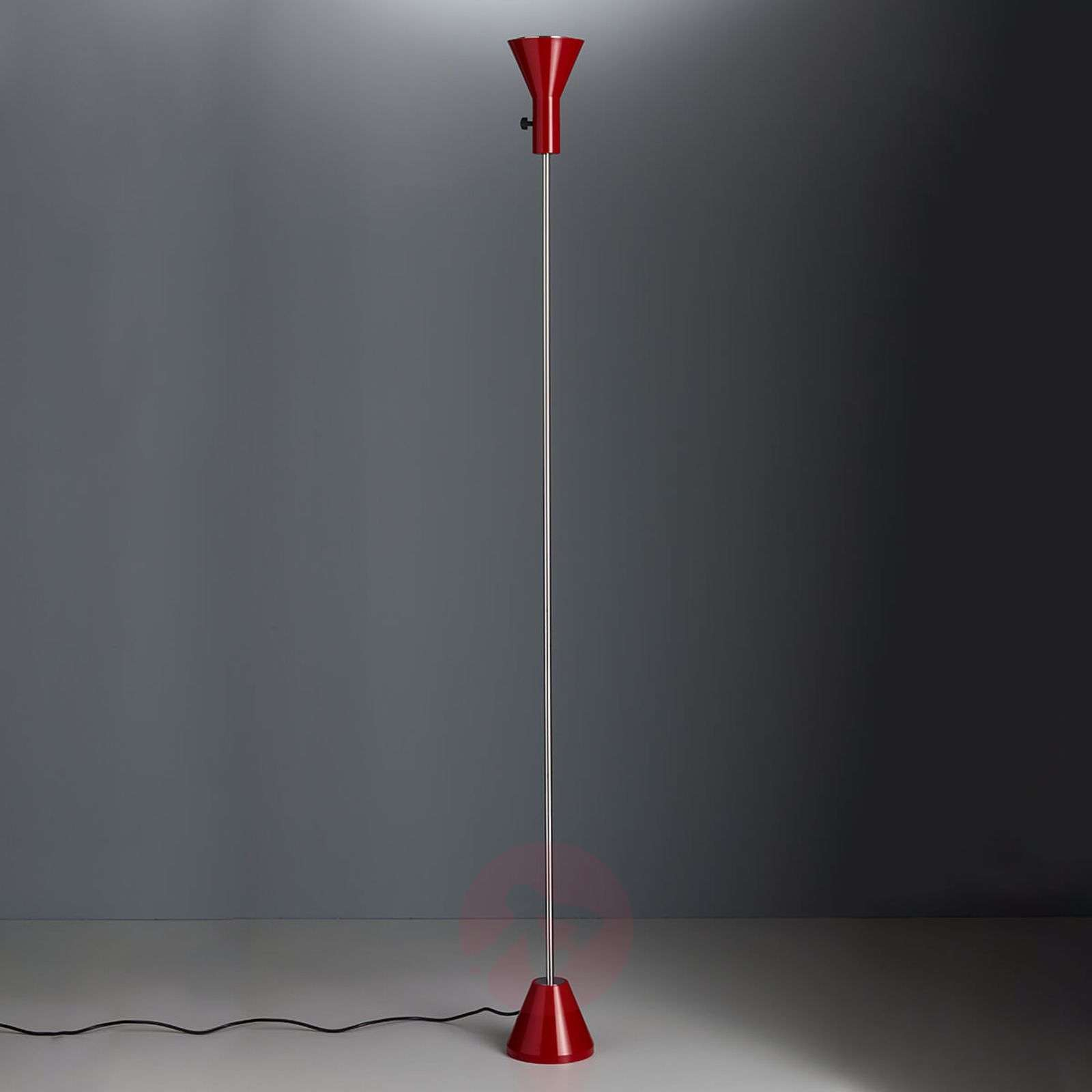 Dimbare led vloerlamp Gru in rood