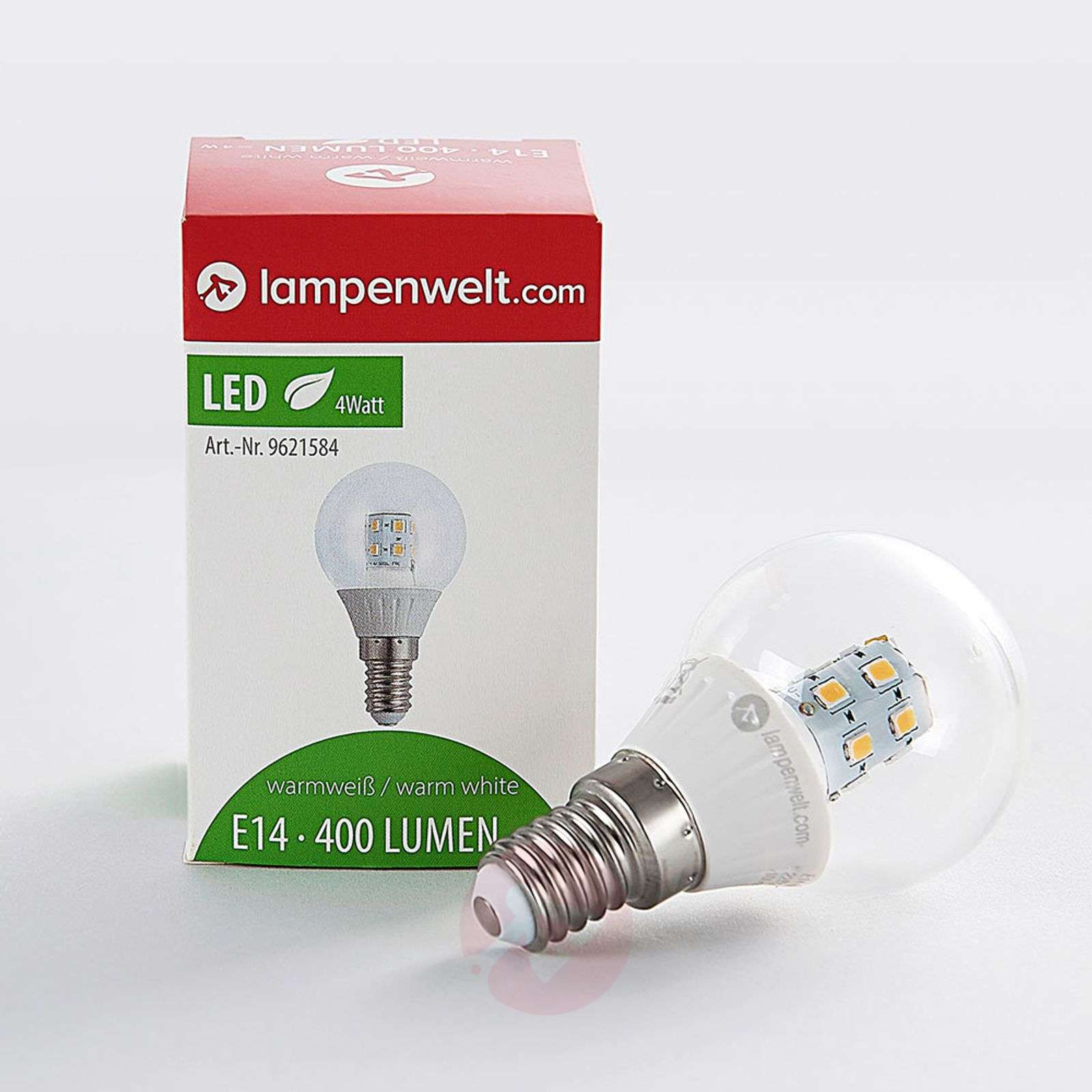 E14 4W 830 LED lamp in druppelvorm helder warmwit-9621584-01