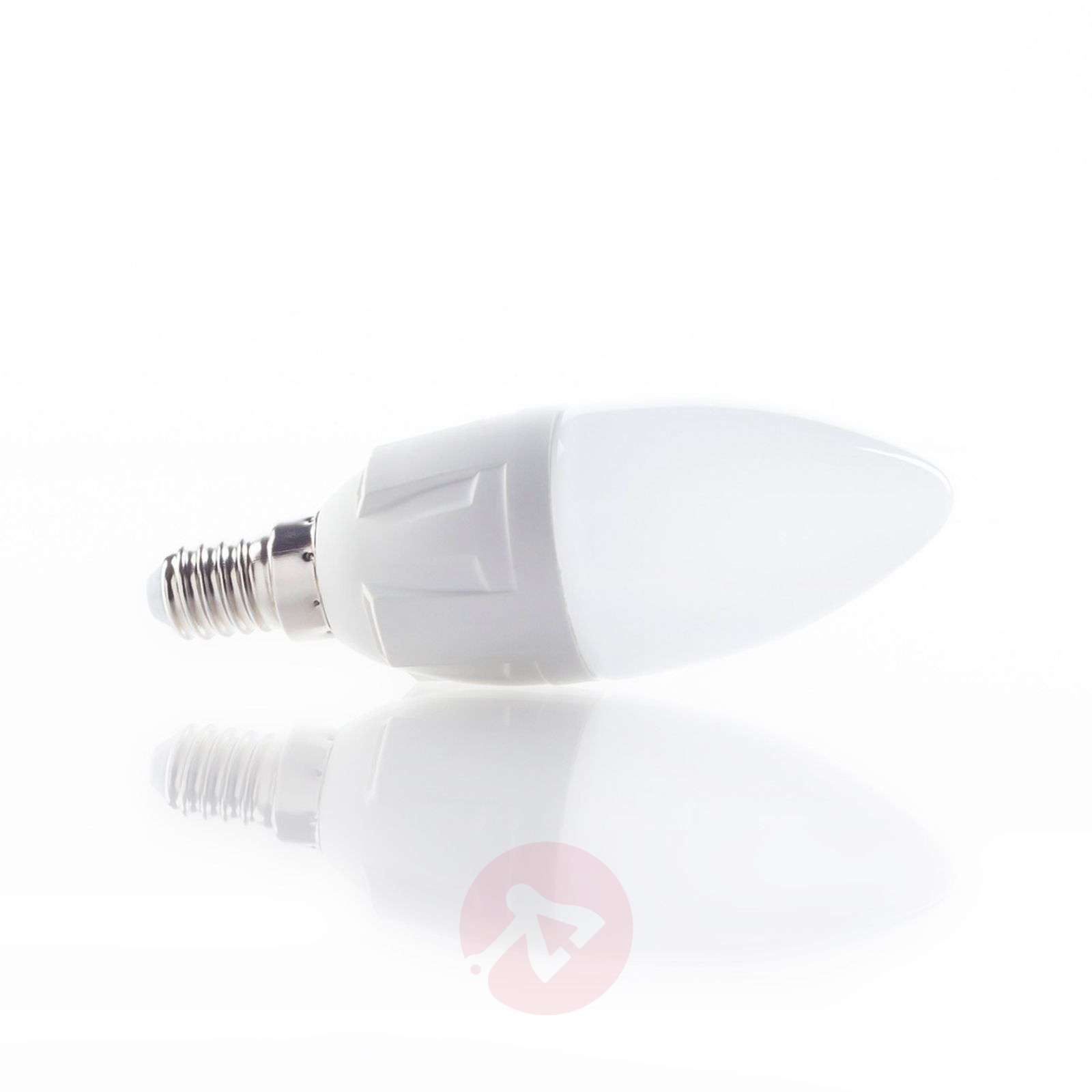 E14 6W 830 LED-lamp kaarsvormig warm-wit-9993004-02