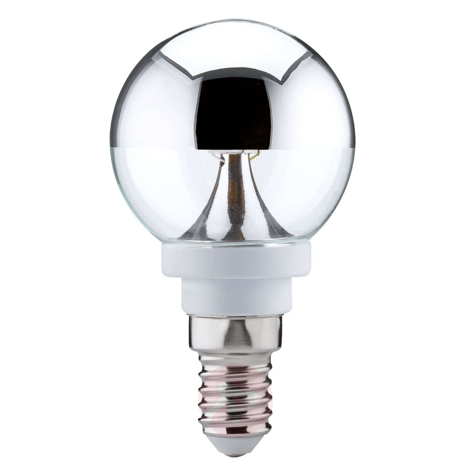 E27 2,5W 827 LED globe met kopspiegel, warm wit-7600648-01