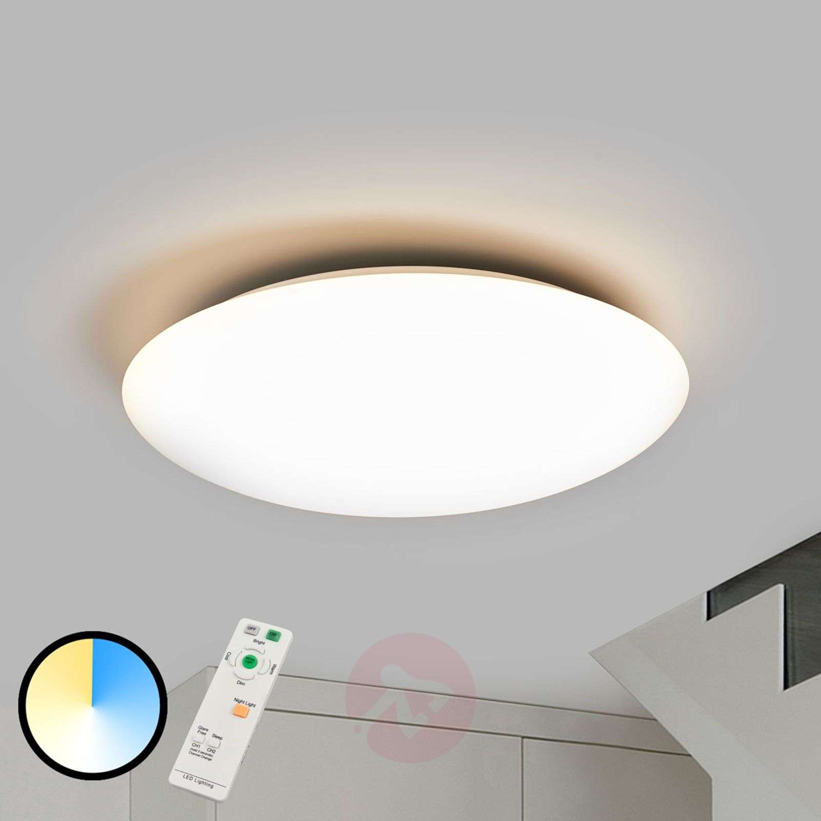 Felle dimbare led plafondlamp teo afst bed lampen be