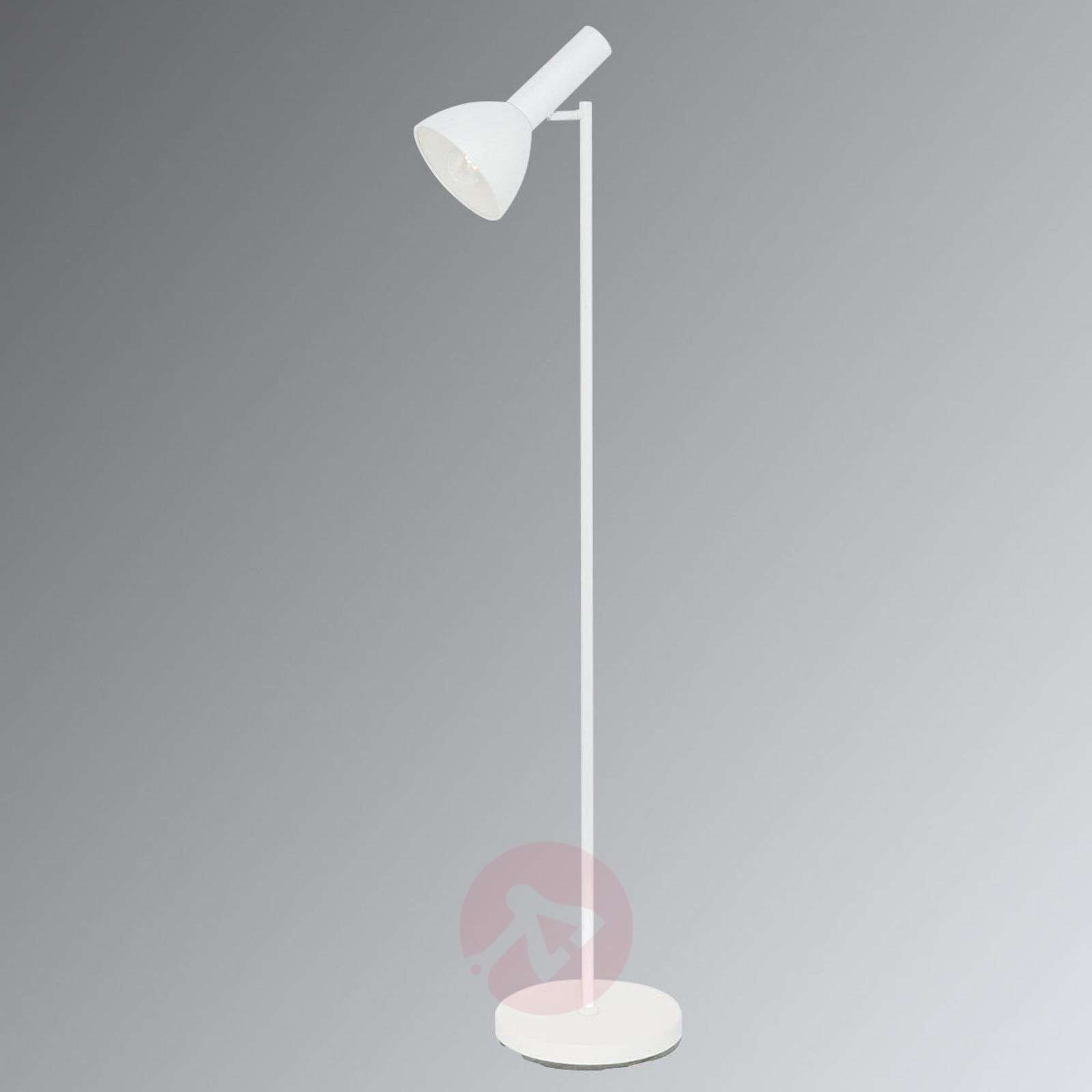 Gino moderne vloerlamp in wit lampen24.be