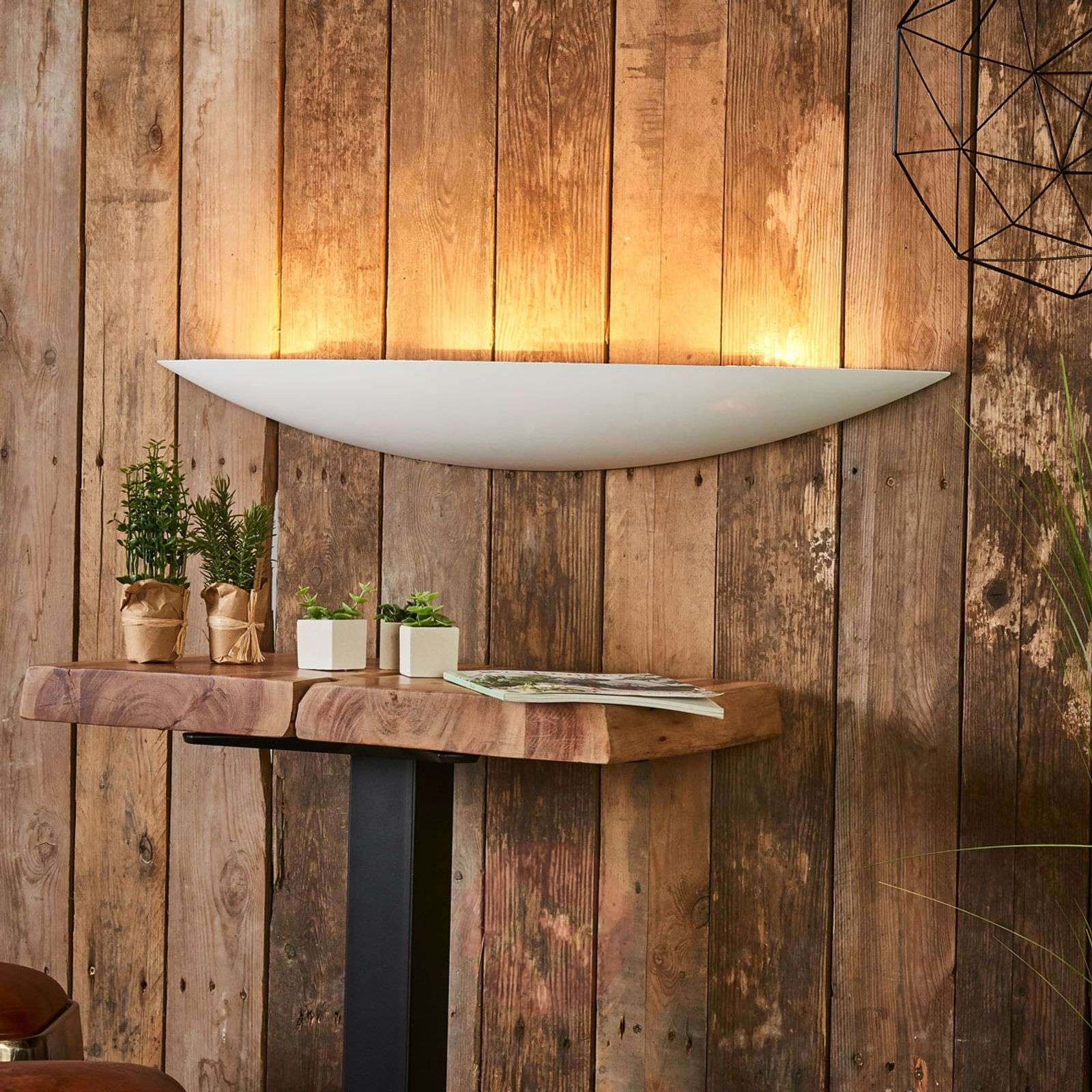 Grote gips wandlamp Tommi in wit-9613070-06