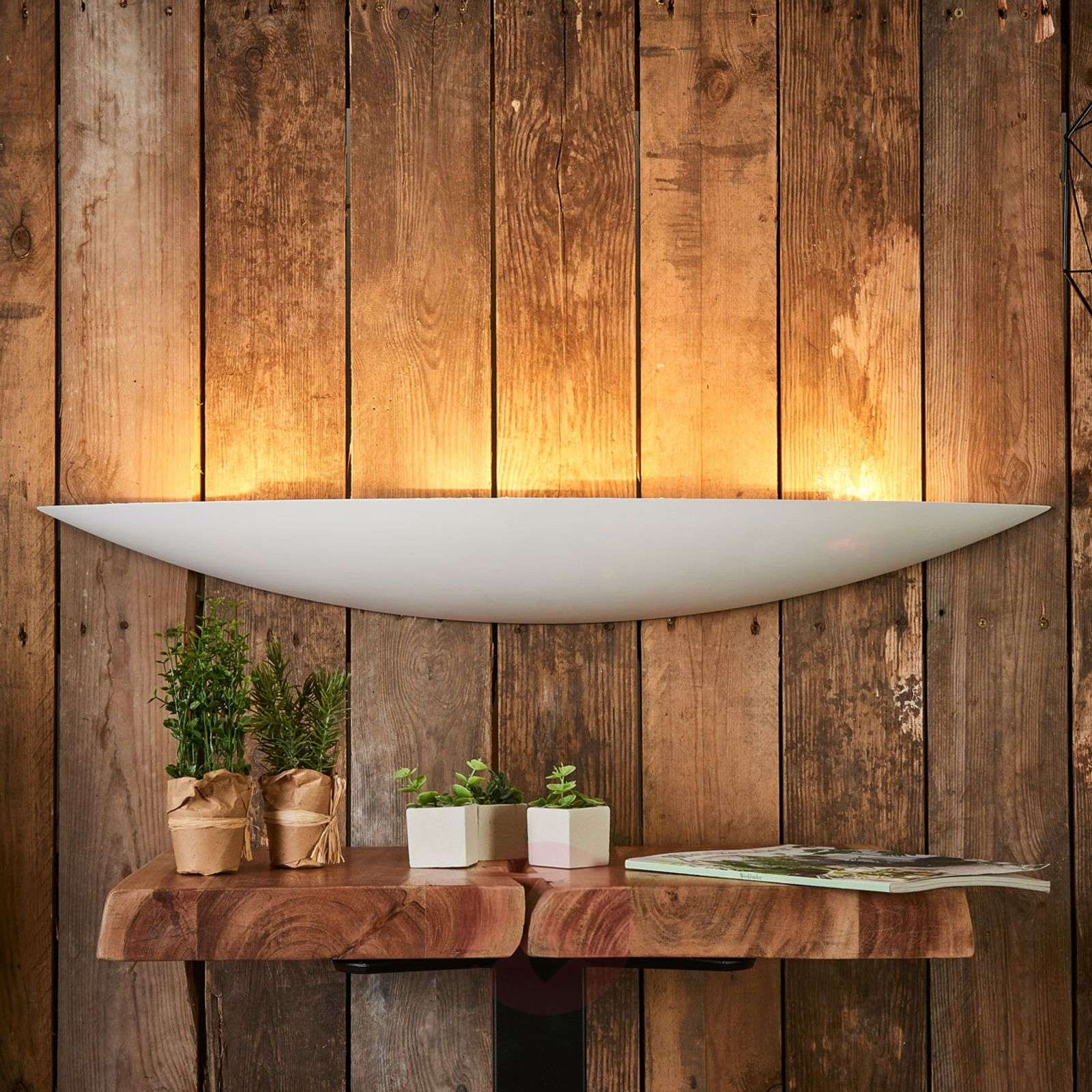 Grote gips wandlamp Tommi in wit-9613070-05