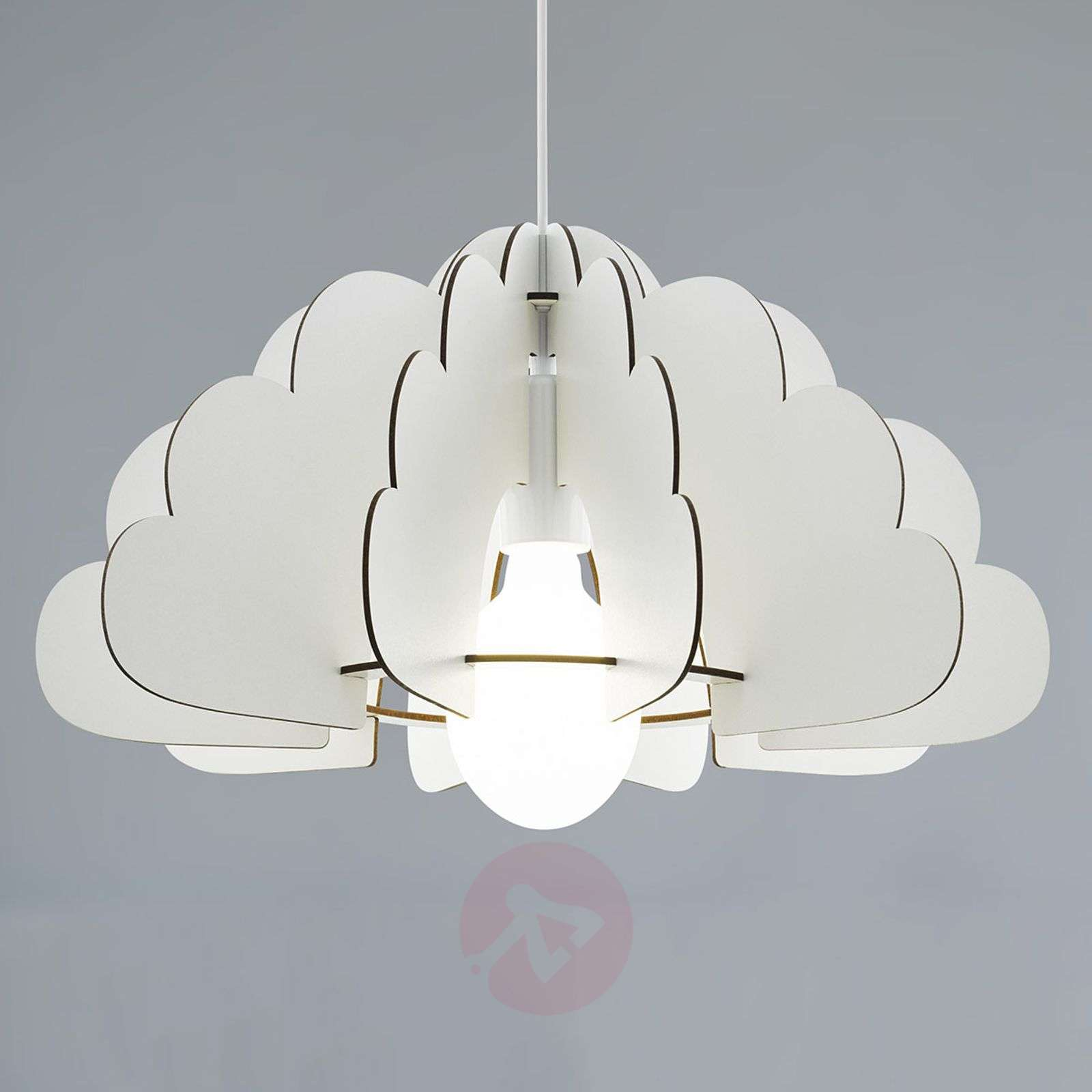 Hanglamp Chieti in wolkendesign, wit-3032308-01
