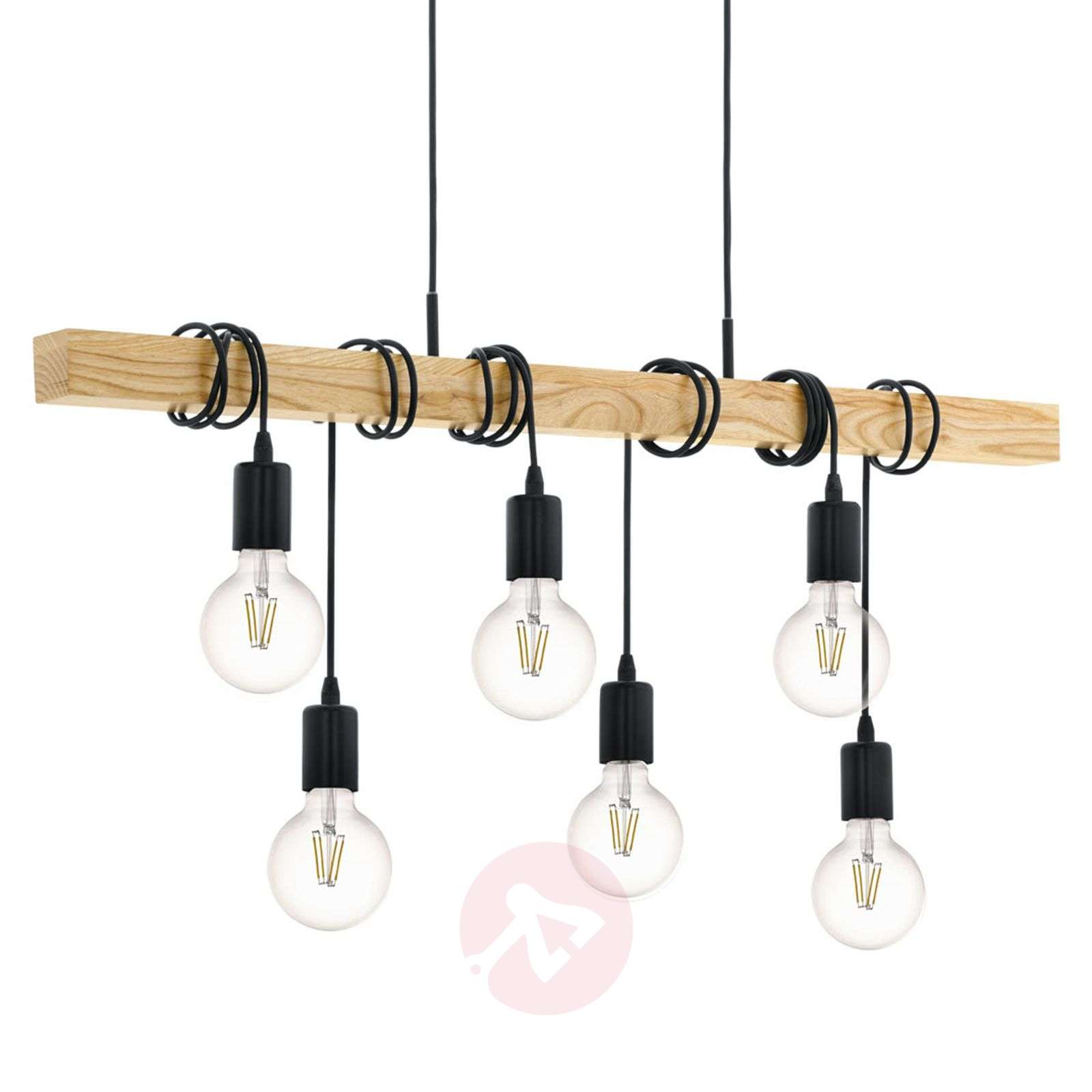Hanglamp Townshend met hout 6-lamps-3032130-01