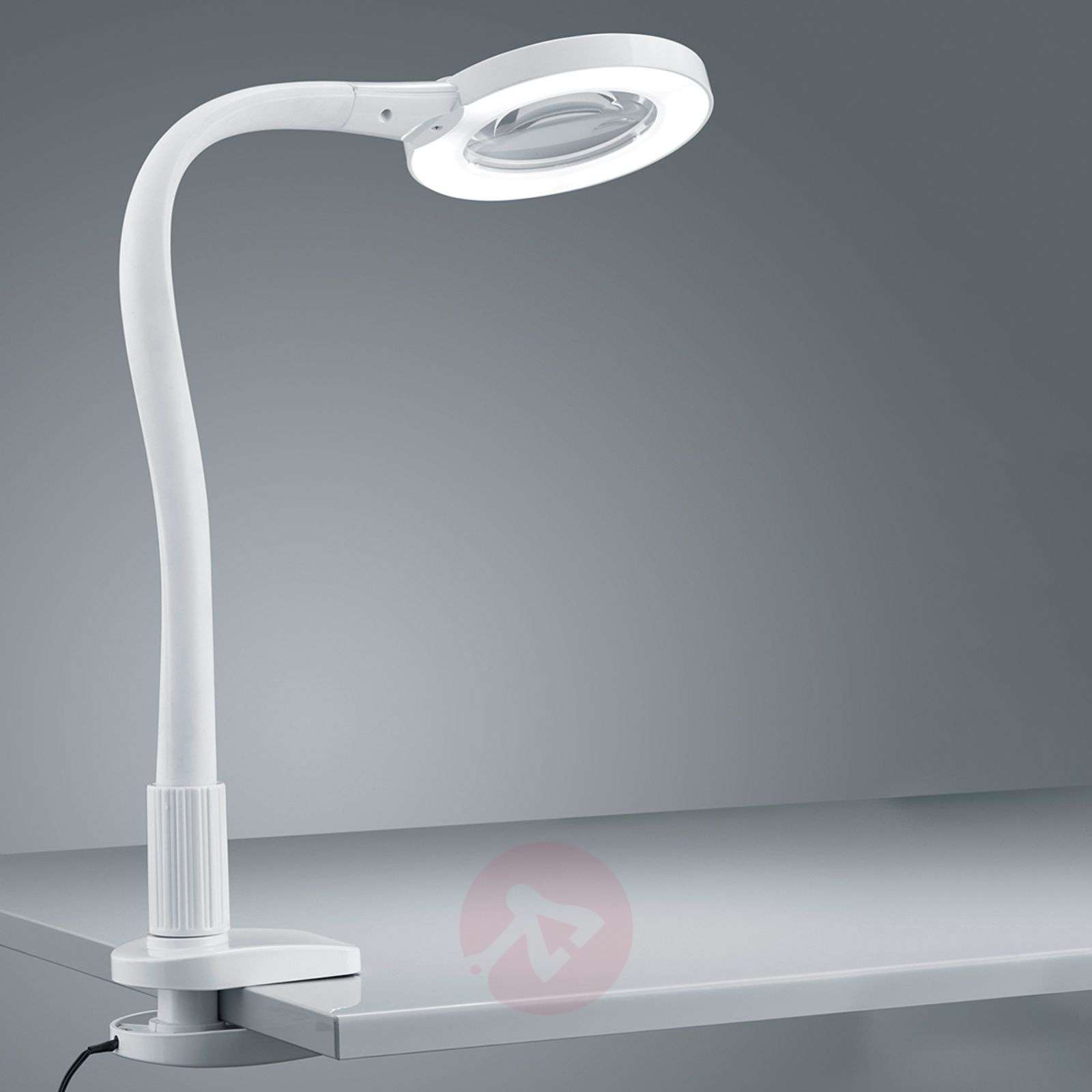 In wit LED vergrootglas klemlamp Lupo-9005195-01