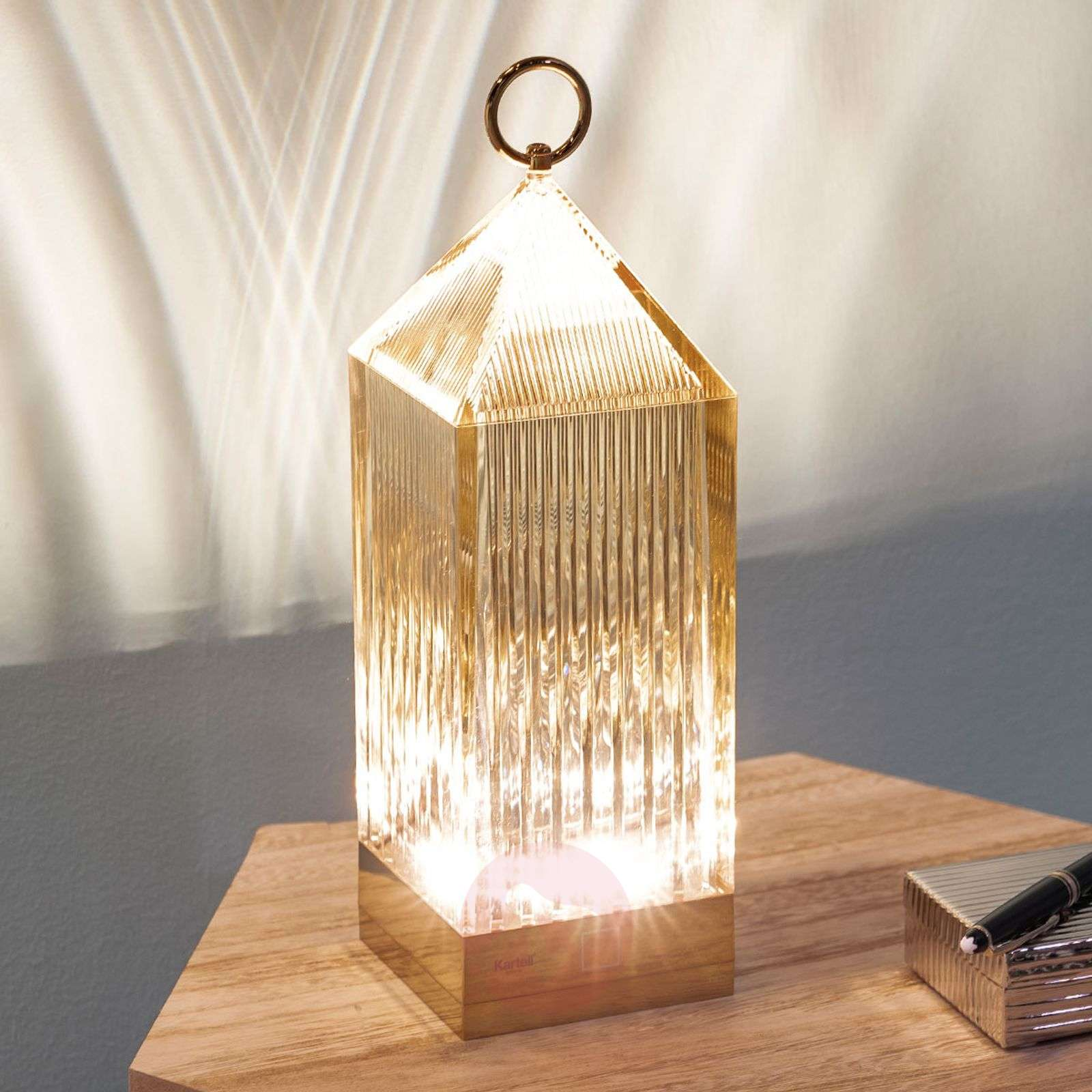 Kartell Lantern LED tafellamp, amber IP54-5541070-01