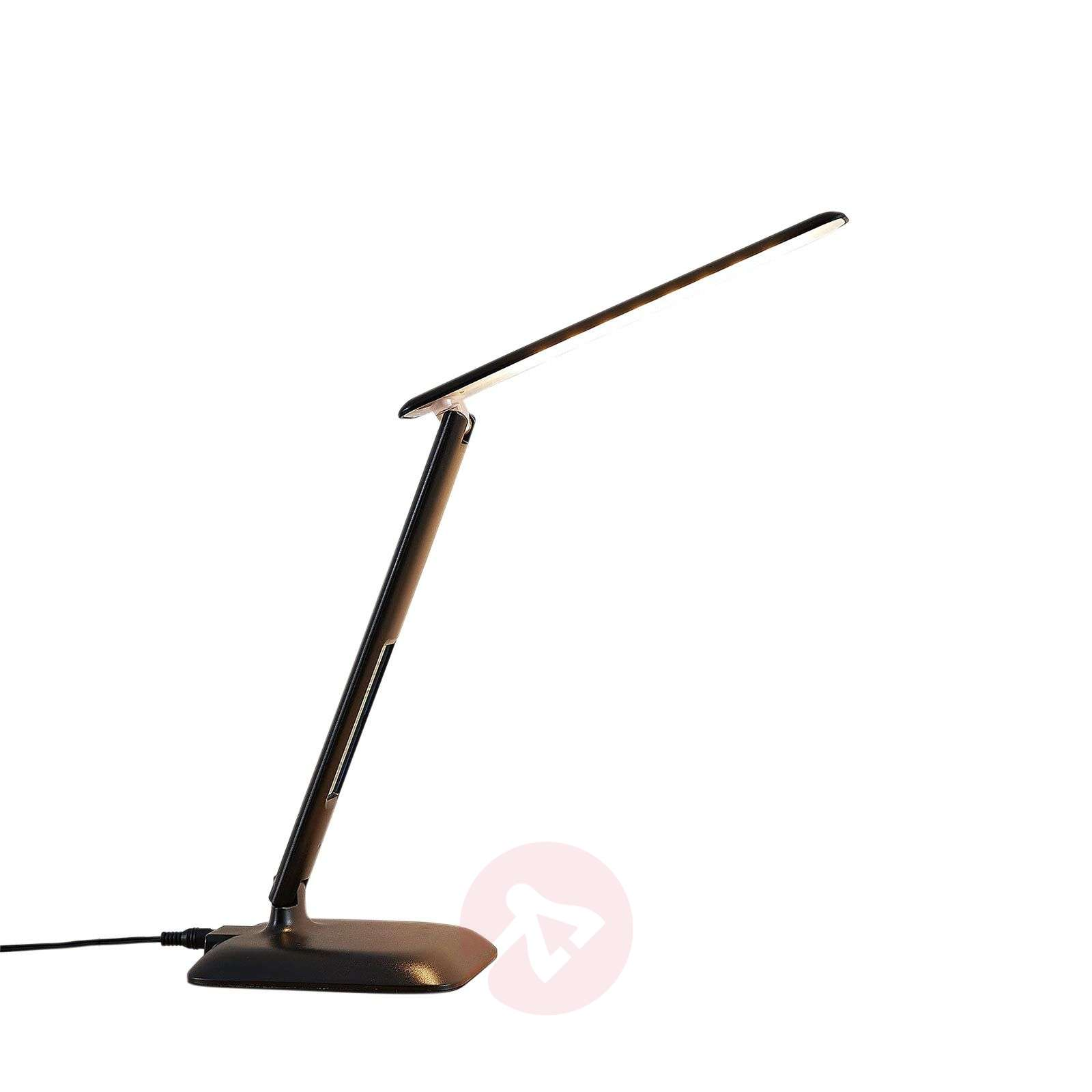 LED bureaulamp Ludmilla m. display, zwart-9643076-02