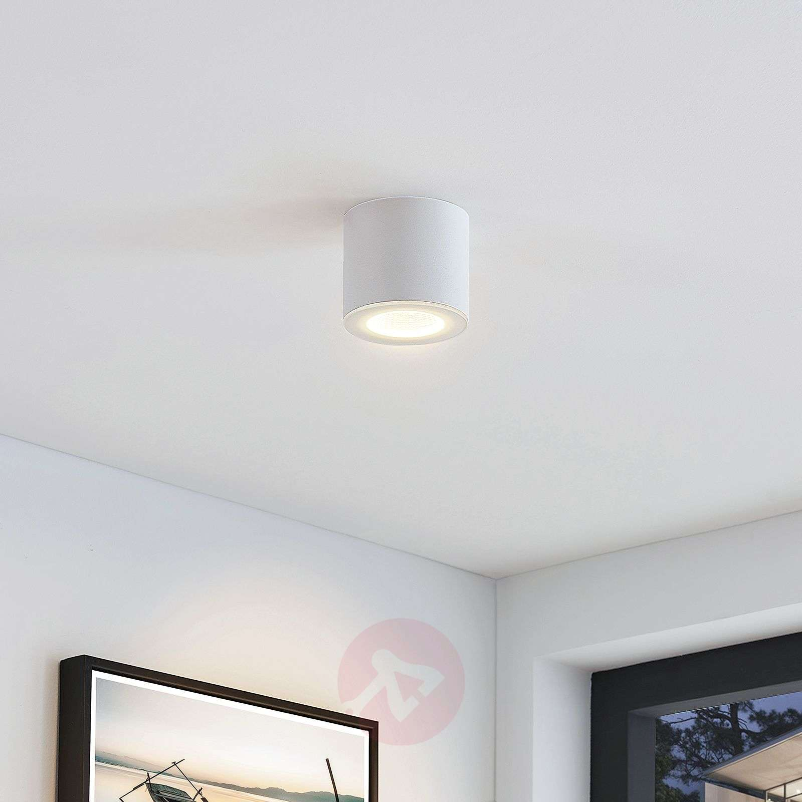 LED downlight Demiran in wit, rond-9624572-02