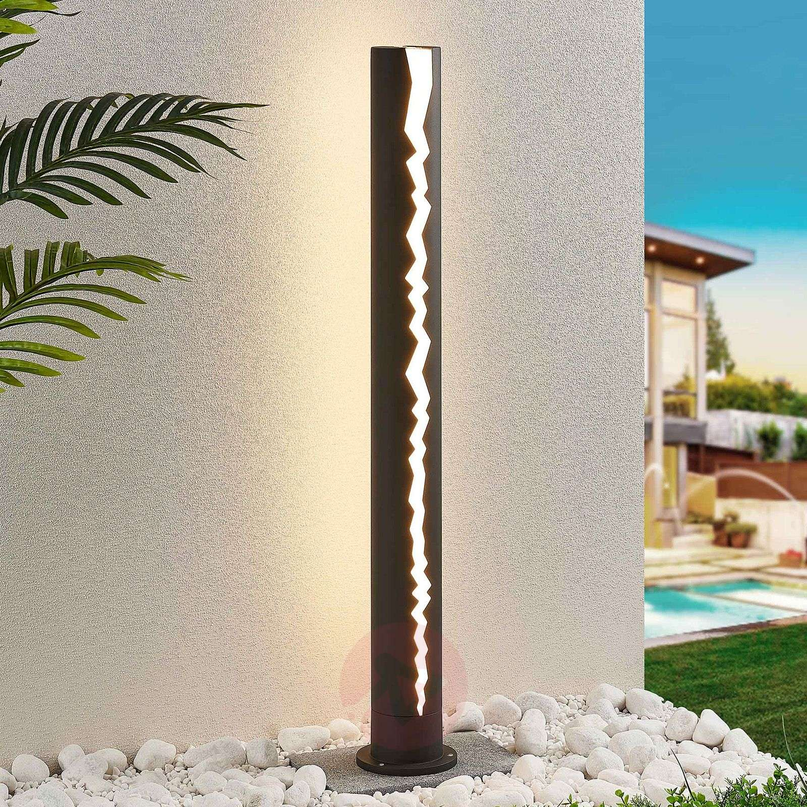 LED tuinpadverlichting in donkergrijs, 100 cm-9619154-03