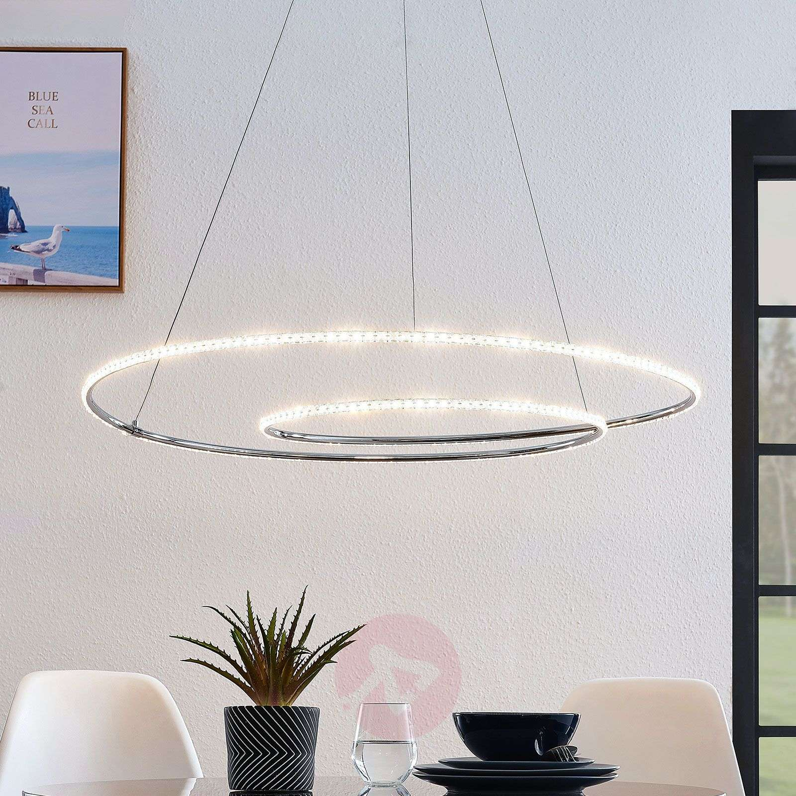 Lindby Lucy LED hanglamp, 90 cm, kristal-9639149-02