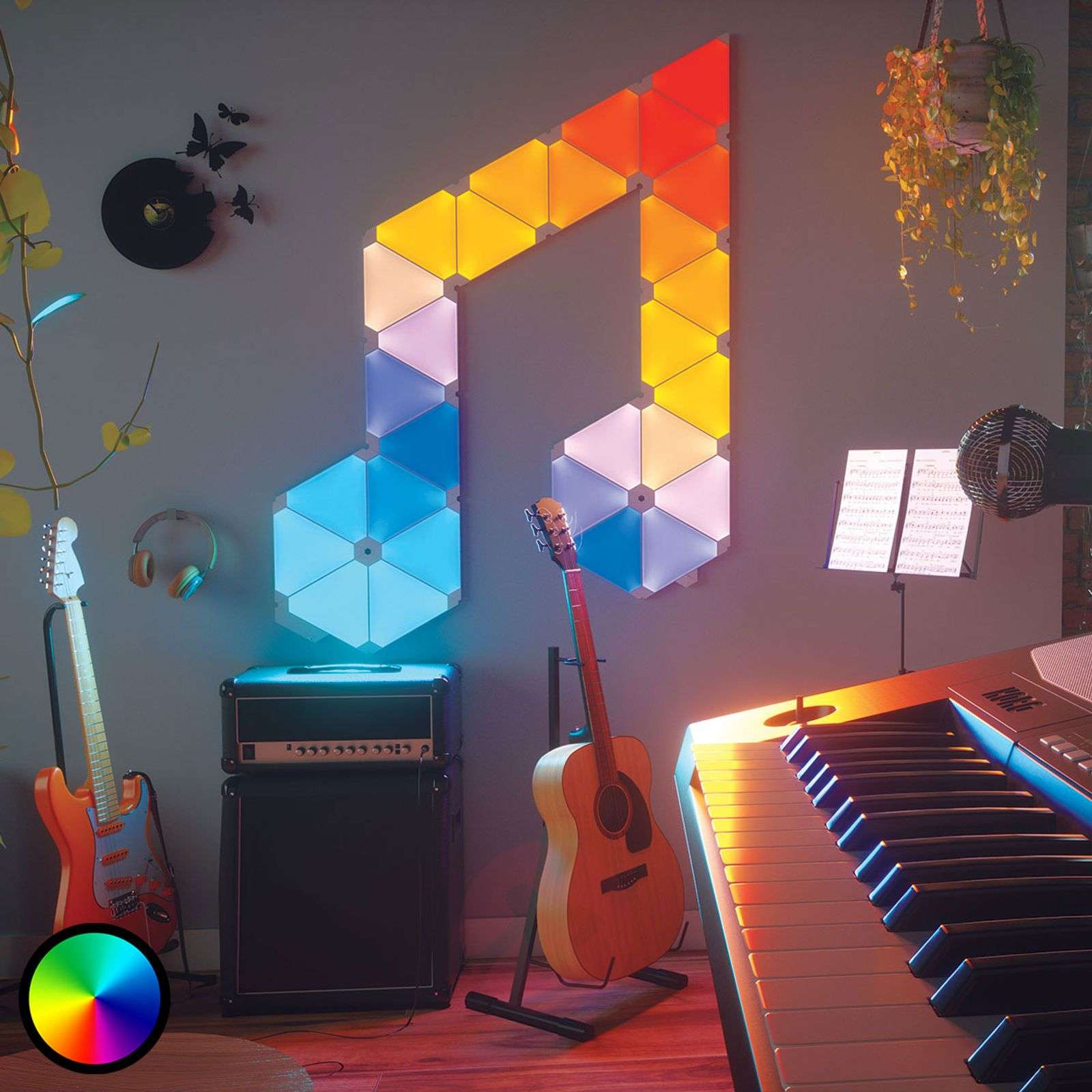 Nanoleaf Light Panels Rhythm Edition, 15 panelen-6730003-01
