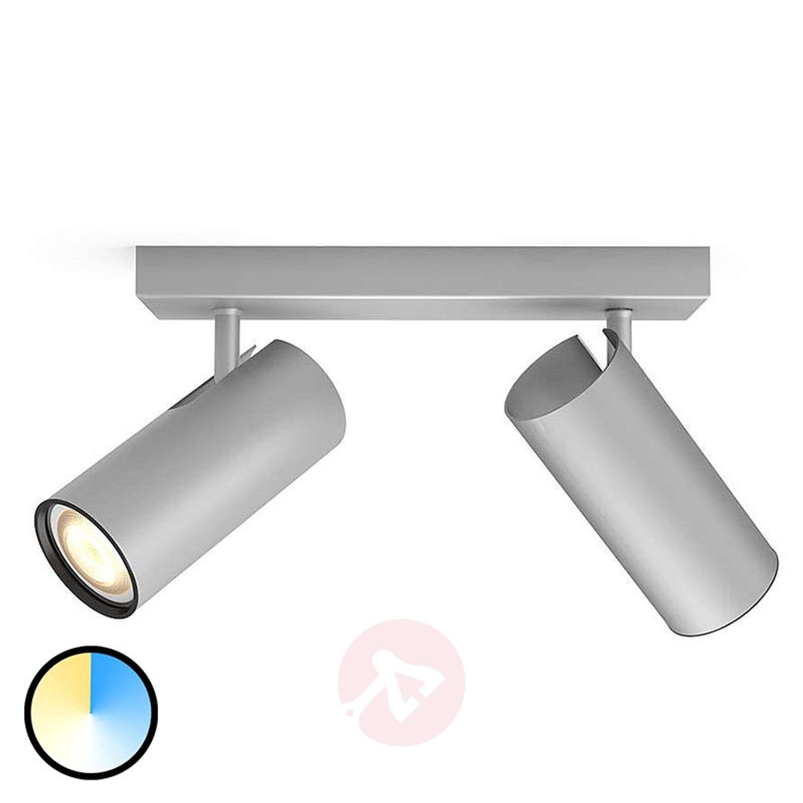 Philips Hue Buratto LED-spot alu 2-lamps dimmer-7532043-01