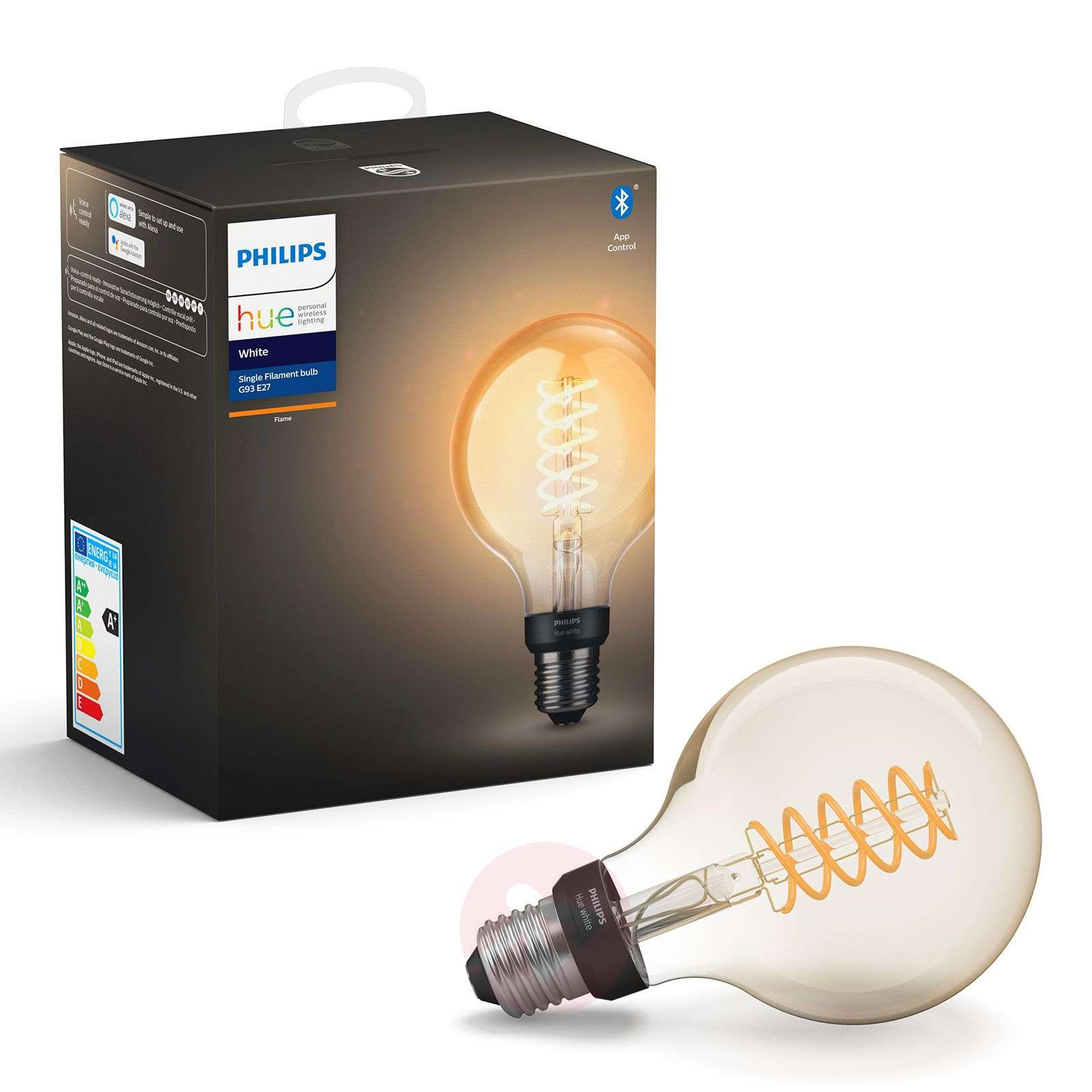 Philips Hue White 7 W E27 filament lamp Globe G95-7534168-01
