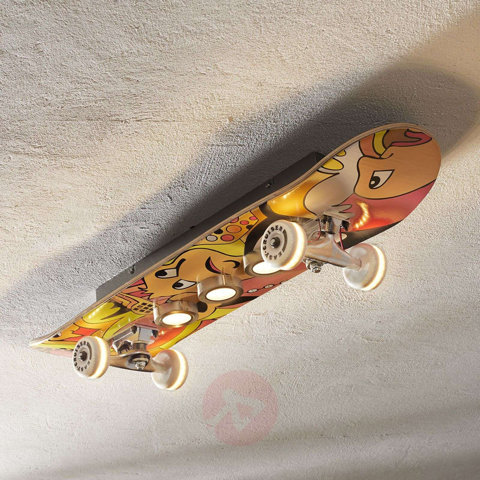 Plafondlamp LED Easy cruiser met skateboard look-3025316-01