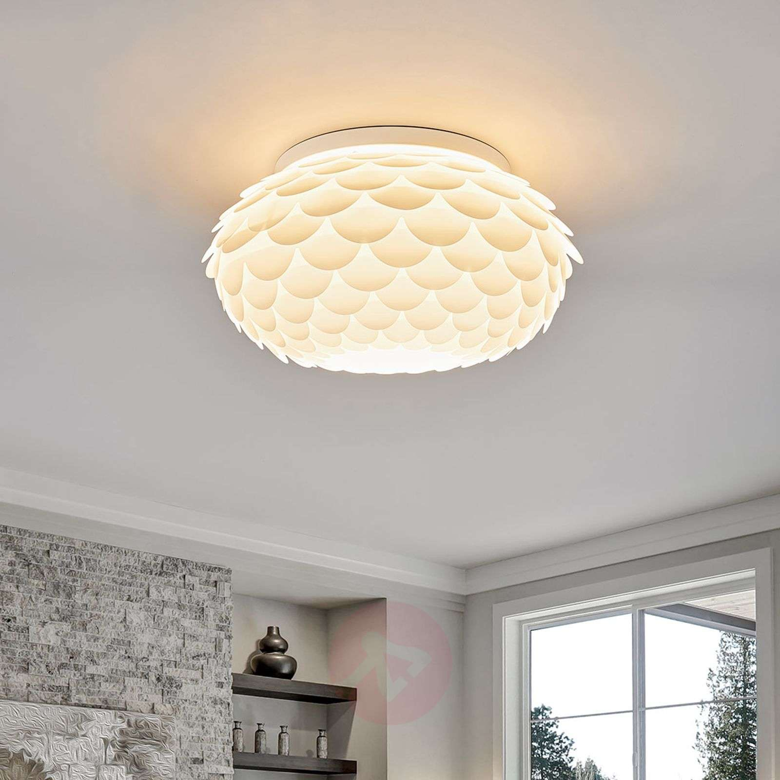 Plafondlamp Marees in wit, rond-8032153-02