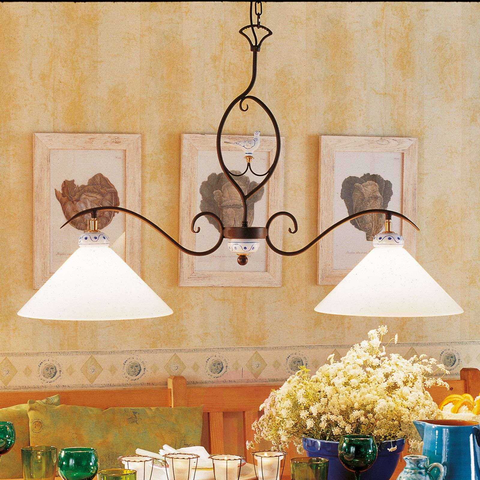 PROVENCE CHALET, 2-lichts hanglamp-6528097-01