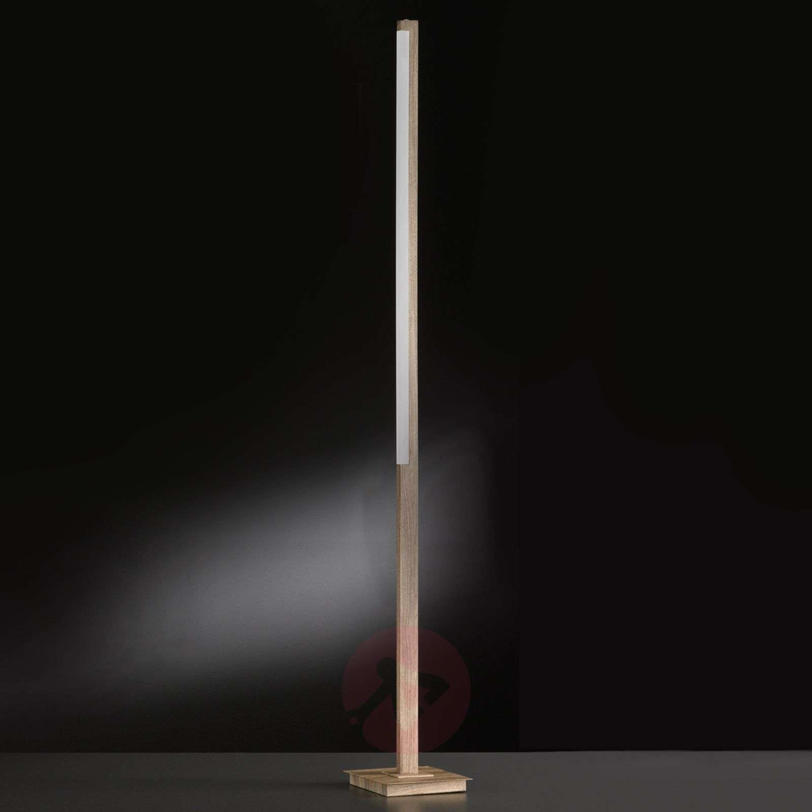 Puristische led staande lamp stick hout lampen be