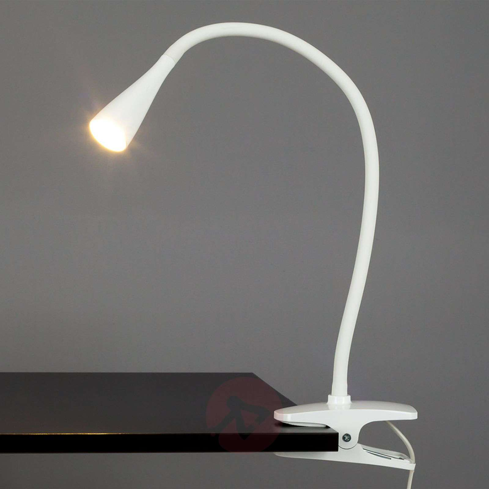 Smalle LED-klemlamp Baris in het wit-9643006-01