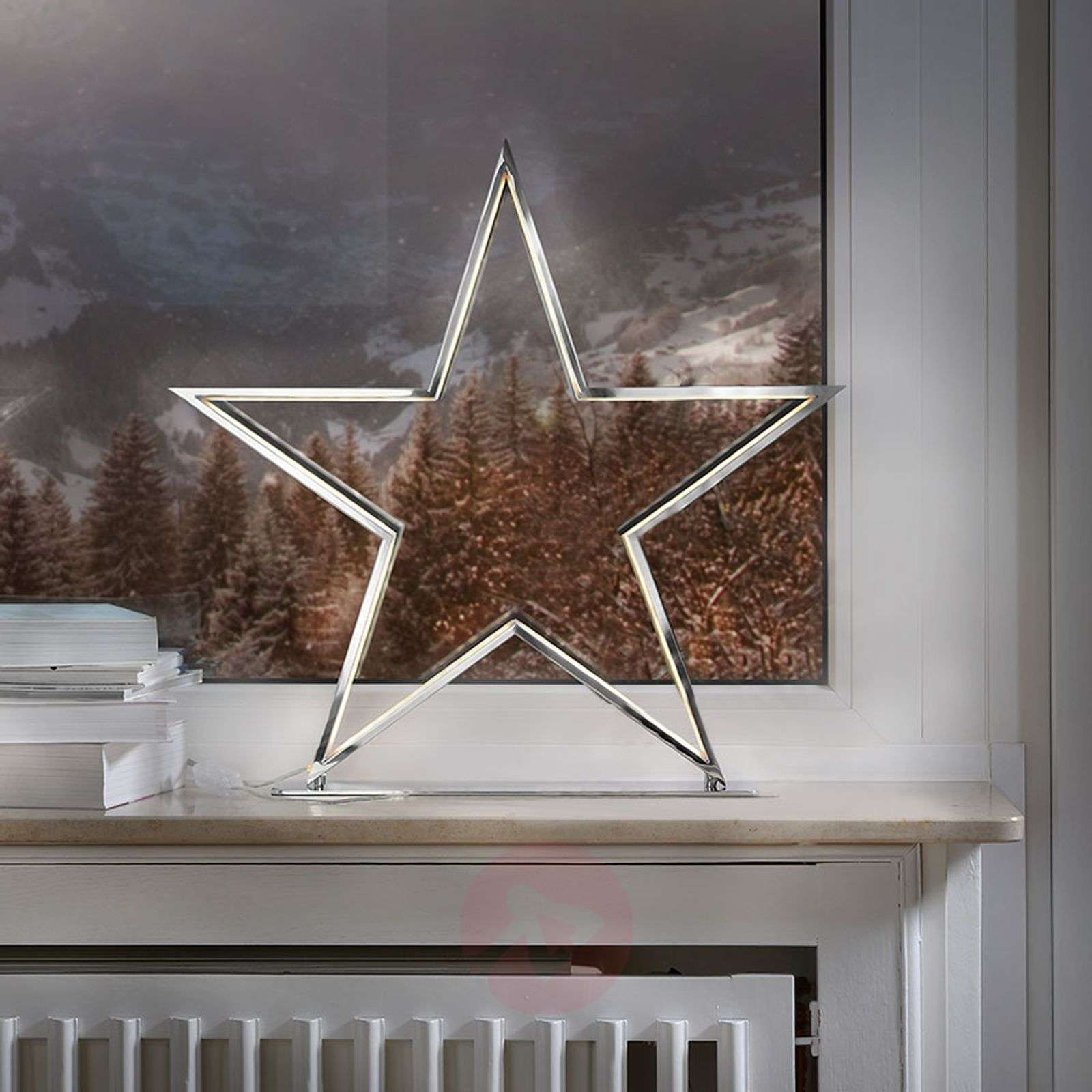 Ster decoratieve lamp Lucy chroom hoogte 50 cm-8507952-01
