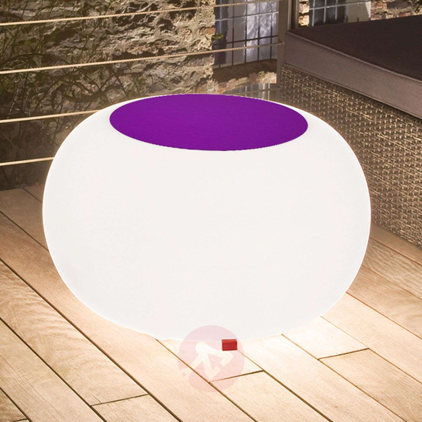 Tafel BUBBLE, RGB-LED met violet vilt-6537072-01