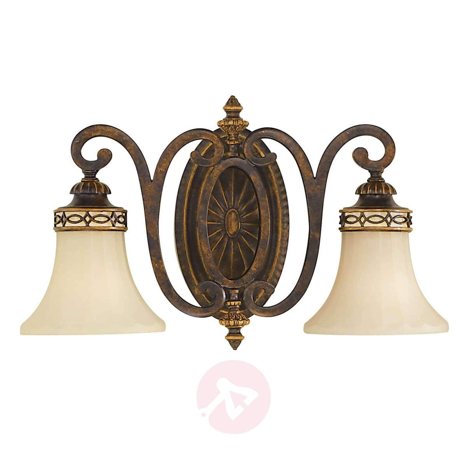 Wandlamp Drawing Room, met 2 lampjes, breed-3048531-01