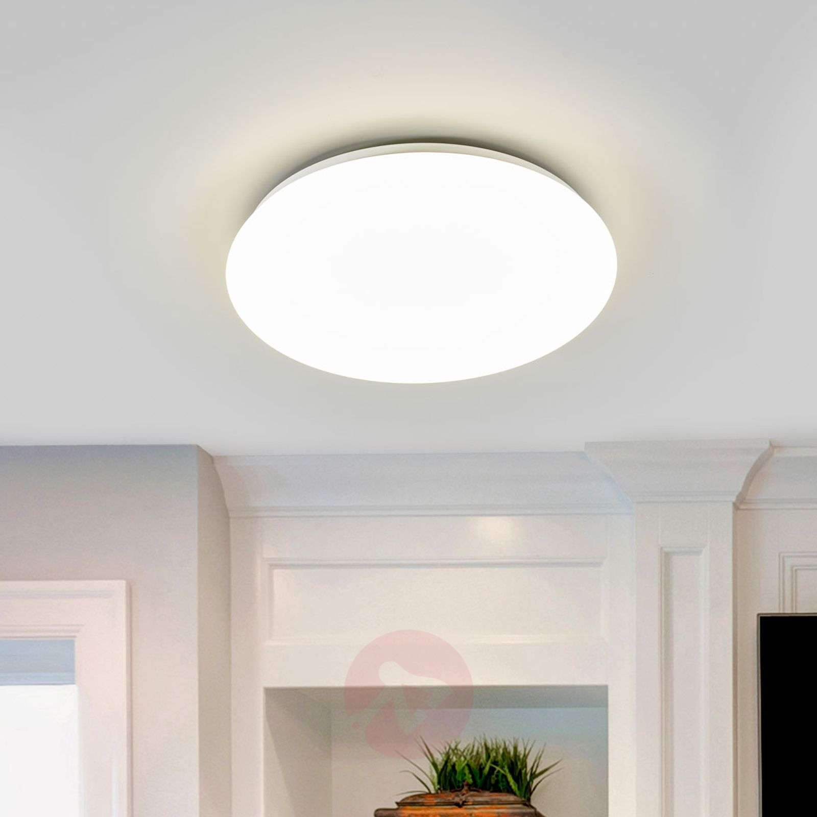 Witte LED-plafondlamp Suede-7531490-01