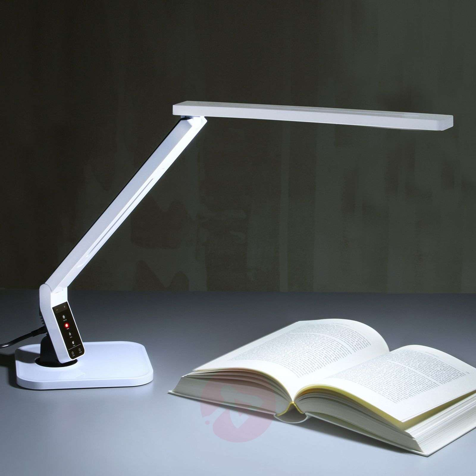 Zeer moderne led bureaulamp eleni wit lampen be