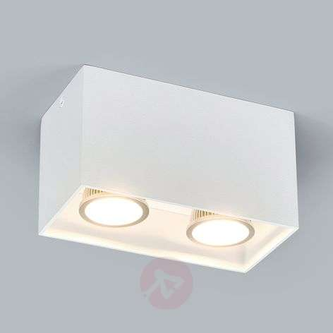 2-vlammig Opbouw-downlight Carson in wit
