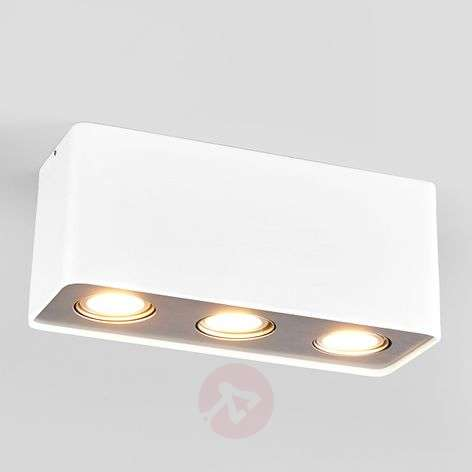 3-lamps GU10-LED-downlight Giliano in wit