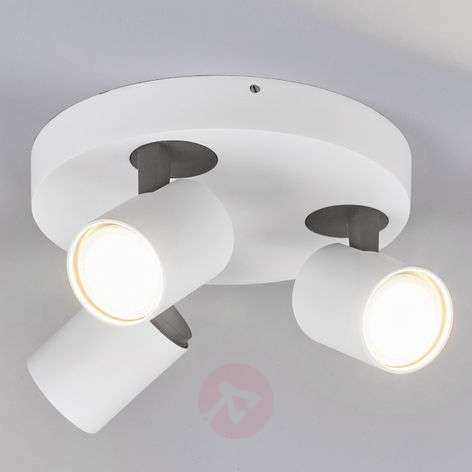 3-lamps LED-plafondrondel Sean