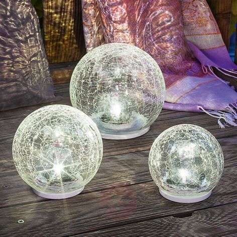 3 led zonne-energie lichtset Crackle Ball