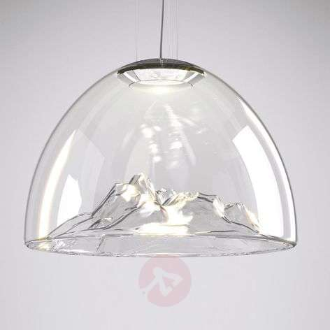 Axolight Mountain View LED hanglamp helder-chroom