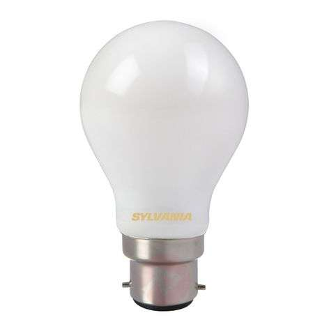 B22 7W 827 LED lamp, gesatineerd