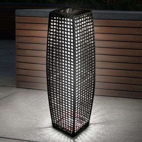 BIG Rattan - een effectvolle LED-solarlamp