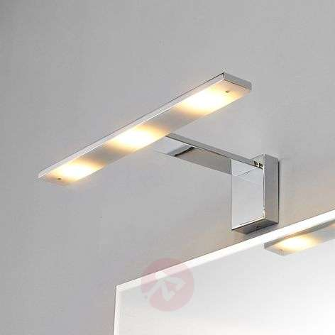 Chique LED-spiegellamp Lorik, chroom