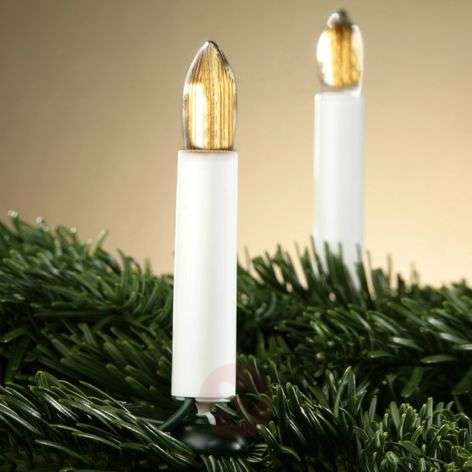 Decoratieve lichtketting ribbelkaarsen