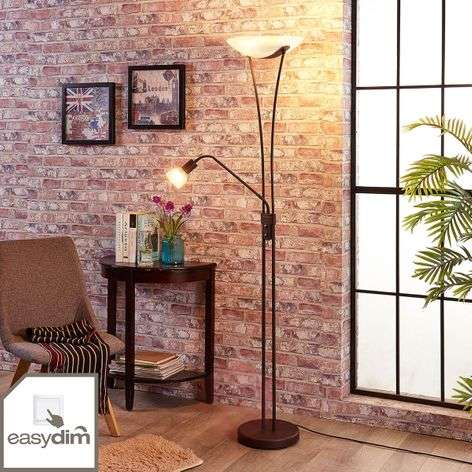 Dimbare LED uplighter Felicia in roest look-9621271-32