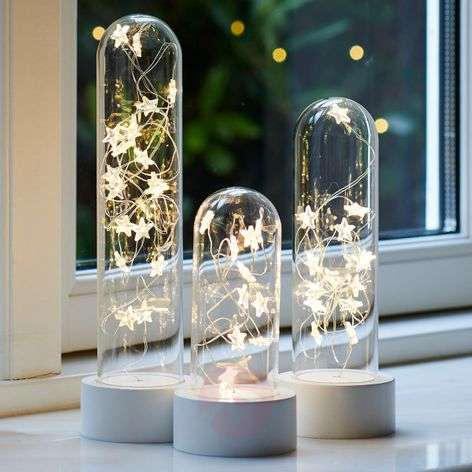 Drievoudige set decoratieve LED lamp Bella Star