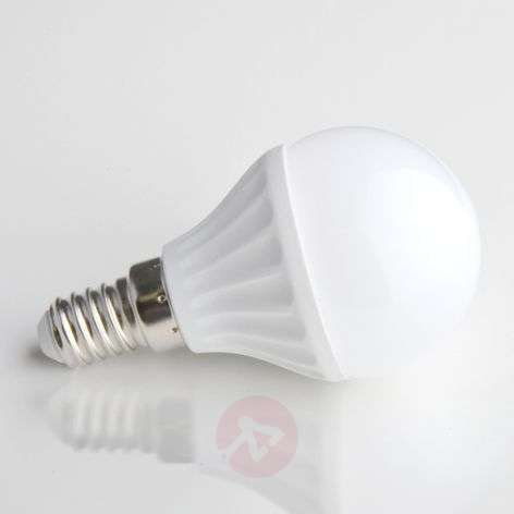 E14, 4W 830 LED-lamp in druppelvorm mat