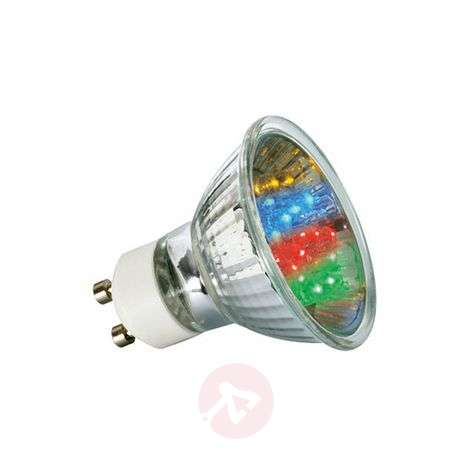 GU10-led-reflectorlamp van 1W, multicolor
