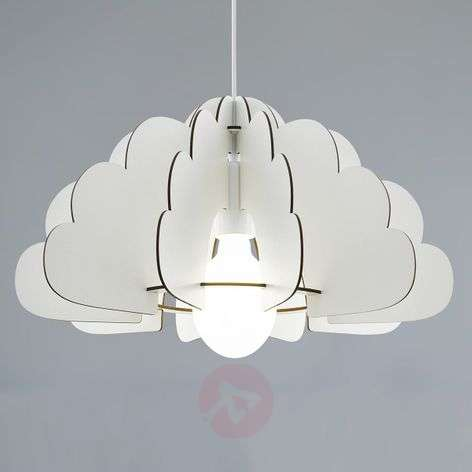 Hanglamp Chieti in wolkendesign, wit