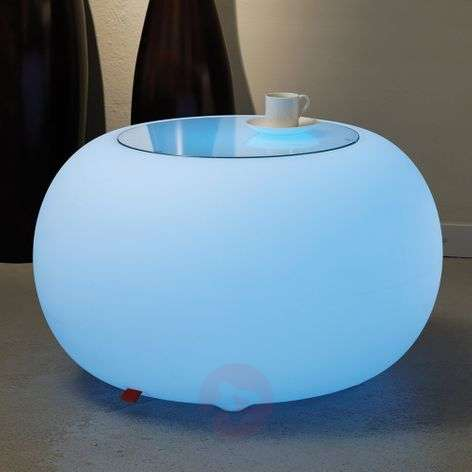 Kruk met accu BUBBLE met multicolour-led