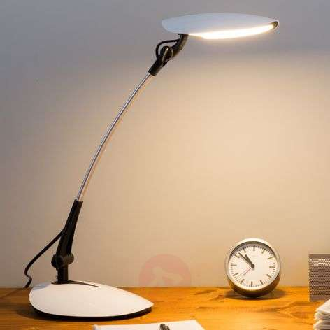 LED-bureaulamp Havin in het wit