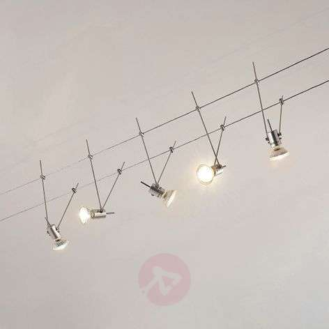 LED kabelsysteem Marno, 5-lamps